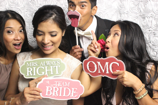 your choice of background color rancho cucamonga wedding photo booth
